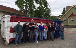 Wrapping up the busy 39th Annual Dumpster Day, June 2017