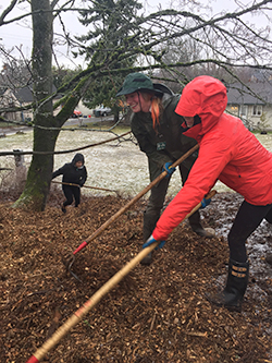 Rock Hill Park work party in February 2017