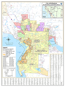 Map of Bellingham's Incorporation and Annexation History
